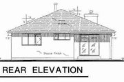 Traditional Style House Plan - 2 Beds 2 Baths 1274 Sq/Ft Plan #18-9059 Exterior - Rear Elevation