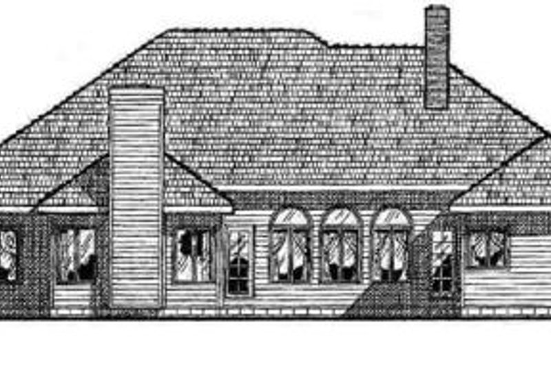 Traditional Exterior - Rear Elevation Plan #20-1050 - Houseplans.com