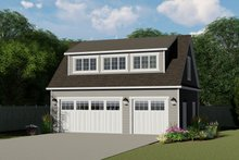 House Plan Design - Country Exterior - Front Elevation Plan #1064-58