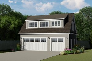 Home Plan - Country Exterior - Front Elevation Plan #1064-58