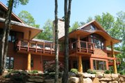 Craftsman Style House Plan - 4 Beds 4.5 Baths 5892 Sq/Ft Plan #454-14 Exterior - Rear Elevation
