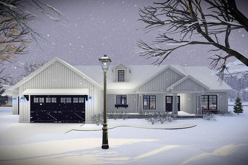 Craftsman Style House Plan - 3 Beds 2 Baths 1921 Sq/Ft Plan #70-1479 Exterior - Front Elevation