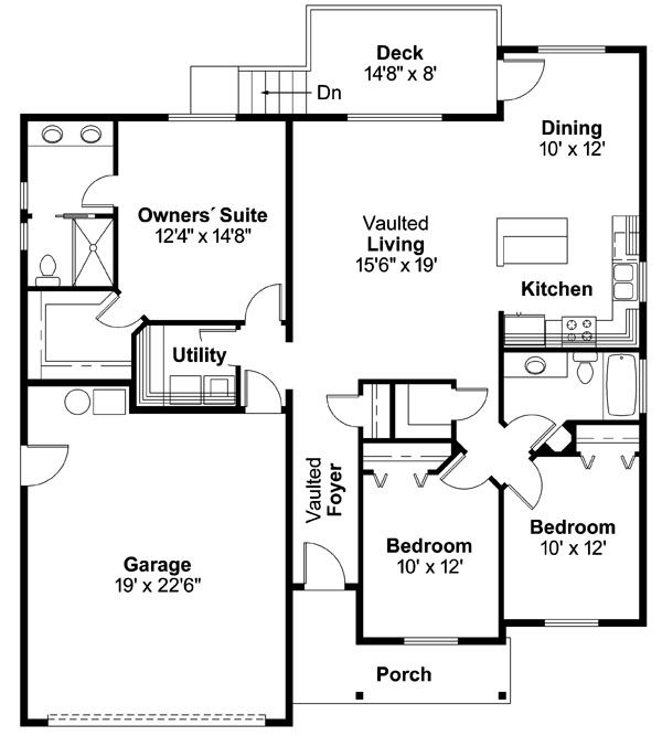 House Design - Country Floor Plan - Main Floor Plan #124-593