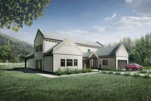 Architectural House Design - Farmhouse Exterior - Front Elevation Plan #924-5