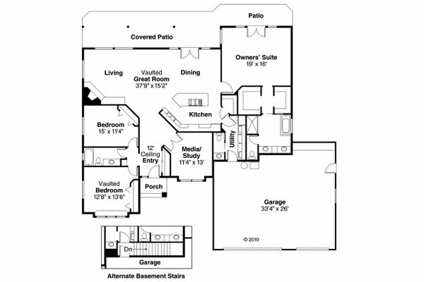 Traditional Floor Plan - Main Floor Plan Plan #124-450