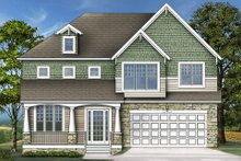 Dream House Plan - Craftsman Exterior - Front Elevation Plan #119-370