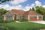 Traditional Style House Plan - 3 Beds 2.5 Baths 2272 Sq/Ft Plan #124-450 Exterior - Front Elevation