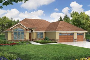 Traditional Exterior - Front Elevation Plan #124-450