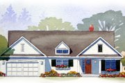 Traditional Style House Plan - 4 Beds 3.5 Baths 2467 Sq/Ft Plan #901-47 Exterior - Front Elevation