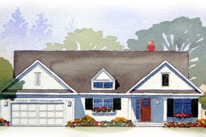 Traditional Exterior - Front Elevation Plan #901-47