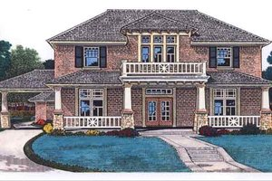 Colonial Exterior - Front Elevation Plan #310-703