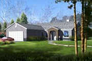 Adobe / Southwestern Style House Plan - 3 Beds 2 Baths 1769 Sq/Ft Plan #1-364 Exterior - Front Elevation
