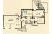 Prairie Style House Plan - 3 Beds 2.5 Baths 2100 Sq/Ft Plan #454-4 Floor Plan - Main Floor