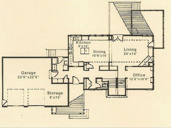 Prairie Floor Plan - Main Floor Plan Plan #454-4
