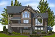 Craftsman Exterior - Rear Elevation Plan #48-251