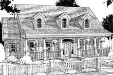 Home Plan - Country Exterior - Front Elevation Plan #20-189