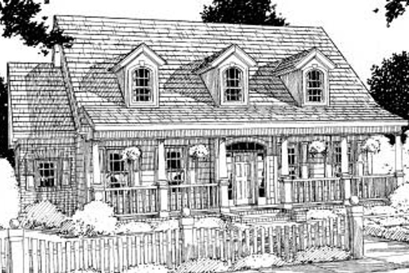 Architectural House Design - Country Exterior - Front Elevation Plan #20-189