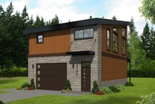 House Plan Design - Contemporary Exterior - Front Elevation Plan #932-41
