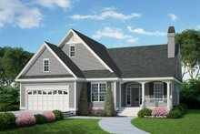 Architectural House Design - Ranch Exterior - Front Elevation Plan #929-558