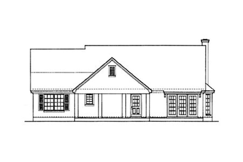 Country Exterior - Rear Elevation Plan #406-157 - Houseplans.com