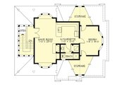 Country Style House Plan - 1 Beds 1 Baths 825 Sq/Ft Plan #132-190 Floor Plan - Upper Floor Plan