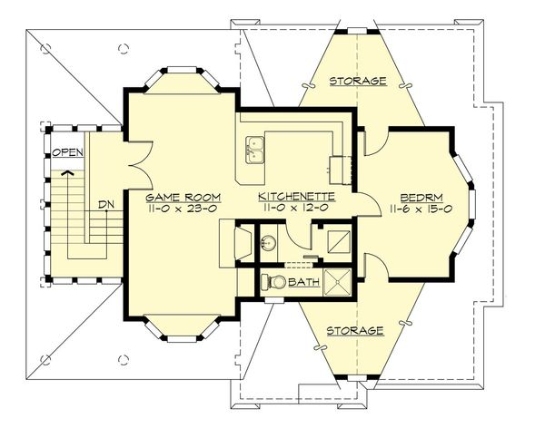 Country Floor Plan - Upper Floor Plan Plan #132-190