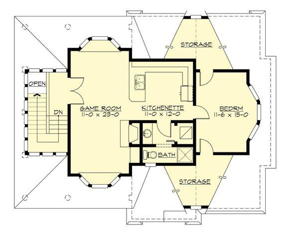 Country Floor Plan - Upper Floor Plan Plan #132-190