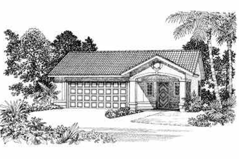 Mediterranean Exterior - Front Elevation Plan #72-281