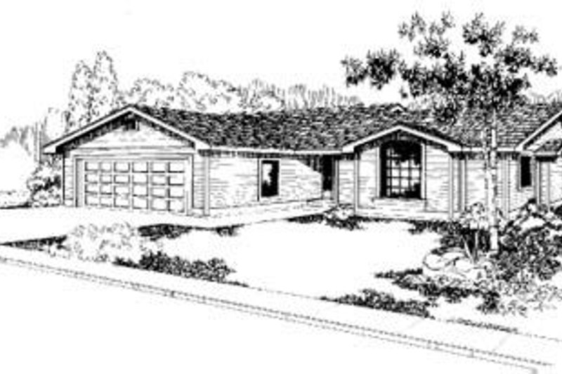 Ranch Exterior - Front Elevation Plan #60-313 - Houseplans.com