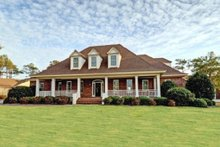 Dream House Plan - Front View - 3100 square foot Southern home