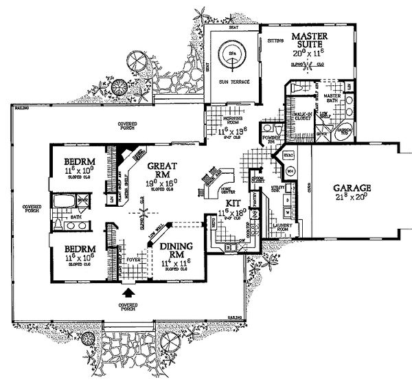 Farmhouse Floor Plan - Main Floor Plan #72-132