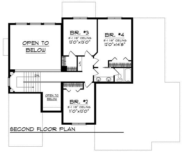 Cottage Floor Plan - Upper Floor Plan Plan #70-880
