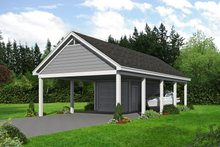 Dream House Plan - Country Exterior - Front Elevation Plan #932-169