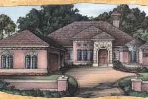 Mediterranean Exterior - Front Elevation Plan #115-122