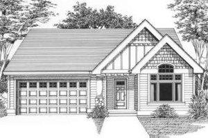 Traditional Exterior - Front Elevation Plan #53-405
