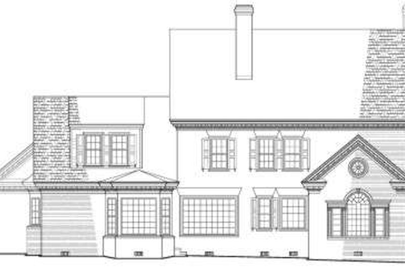 Colonial Exterior - Rear Elevation Plan #137-209 - Houseplans.com