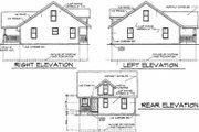 Bungalow Style House Plan - 3 Beds 2 Baths 1291 Sq/Ft Plan #50-231 Exterior - Rear Elevation