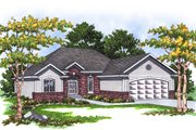 Traditional Style House Plan - 3 Beds 2 Baths 1460 Sq/Ft Plan #70-129 Exterior - Front Elevation