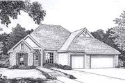 Traditional Style House Plan - 3 Beds 2.5 Baths 1944 Sq/Ft Plan #310-911 Exterior - Front Elevation