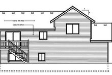 House Design - Traditional Exterior - Rear Elevation Plan #96-308