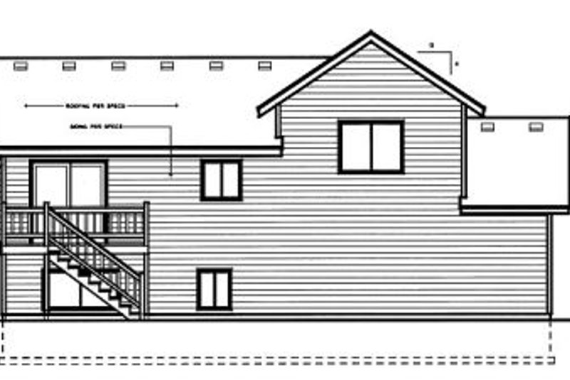 Traditional Exterior - Rear Elevation Plan #96-308 - Houseplans.com