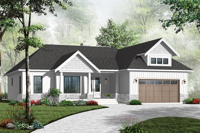 Architectural House Design - Traditional Exterior - Front Elevation Plan #23-2528