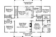 Country Style House Plan - 3 Beds 2.5 Baths 1951 Sq/Ft Plan #21-369 Floor Plan - Main Floor Plan