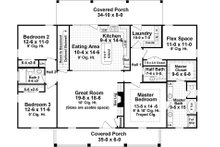 Country Floor Plan - Main Floor Plan Plan #21-369