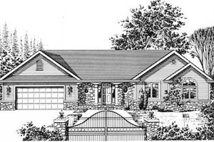Traditional Exterior - Front Elevation Plan #12-104