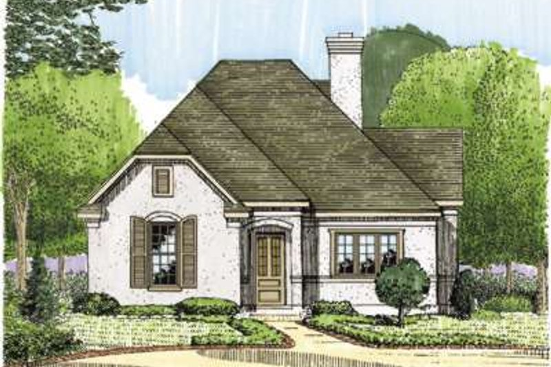 European Exterior - Front Elevation Plan #410-147