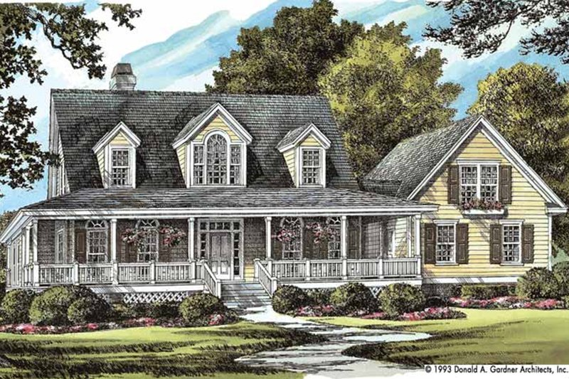 Colonial Exterior - Front Elevation Plan #929-50 - Houseplans.com