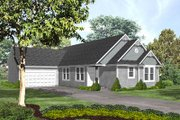 Traditional Style House Plan - 2 Beds 2.5 Baths 1745 Sq/Ft Plan #50-133 Exterior - Front Elevation