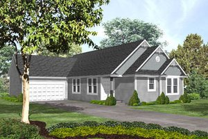 Traditional Exterior - Front Elevation Plan #50-133