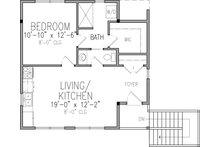 Victorian Floor Plan - Upper Floor Plan Plan #410-3611